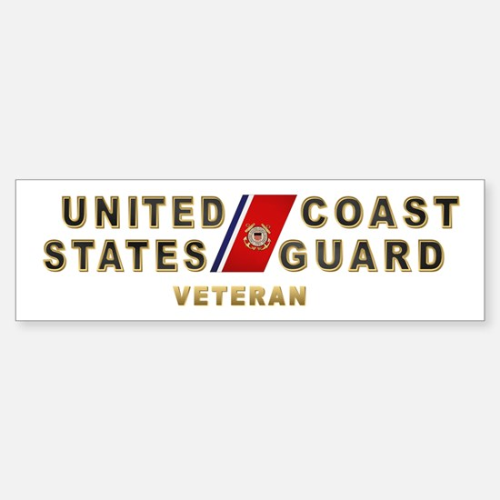 USCG Veteran Bumper Bumper Bumper Sticker