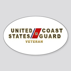 USCG Veteran Oval Sticker