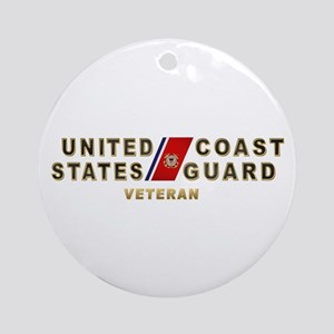 USCG Veteran Ornament (Round)