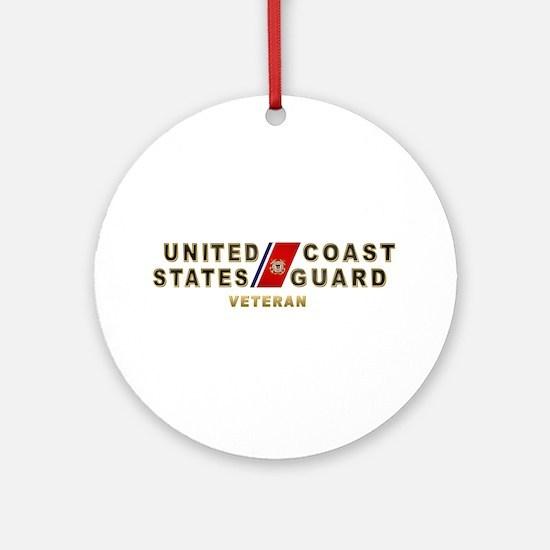USCG Veteran Ornament (Round)