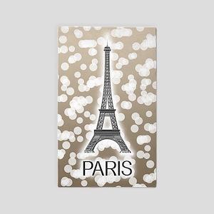 Paris: City of Light, Eiffel Tower (Beige Area Rug