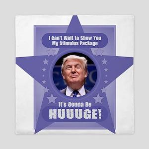 Trump Stimulus Package Queen Duvet