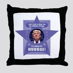 Trump Stimulus Package Throw Pillow