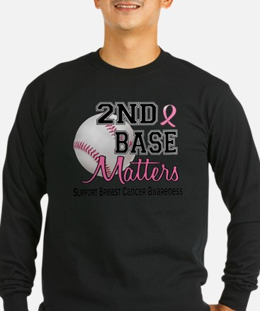 Second 2nd Base Breast Cancer Long Sleeve T-Shirt