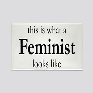 What A Feminist Looks Like Rectangle Magnet