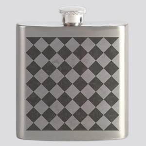 SQR2 BK-WH MARBLE Flask