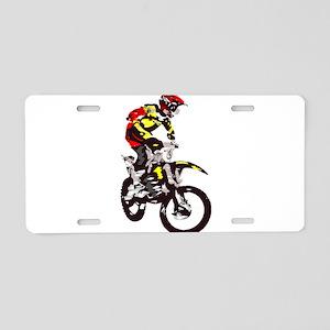 Motocross Aluminum License Plate