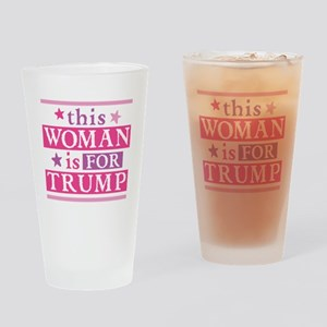 Woman for TRUMP Drinking Glass