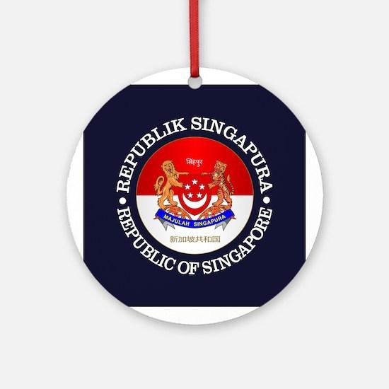 Singapore (rd) Round Ornament