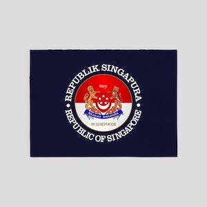 Singapore (rd) 5'x7'Area Rug