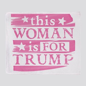 Woman for TRUMP Throw Blanket
