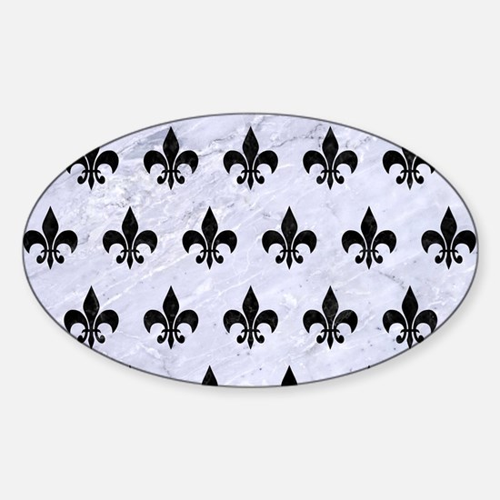 RYL1 BK-WH MARBLE Sticker (Oval)