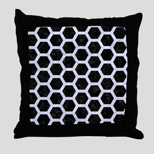 HXG2 BK-WH MARBLE Throw Pillow