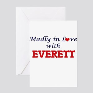 Madly in love with Everett Greeting Cards