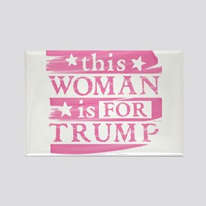 Woman for TRUMP Magnets