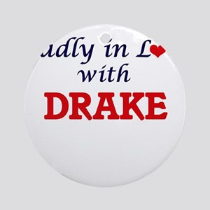 Madly in love with Drake Round Ornament