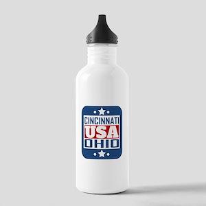 Cincinnati Ohio USA Water Bottle
