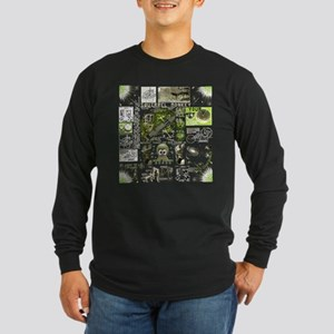 space monkey collage Long Sleeve Dark T-Shirt