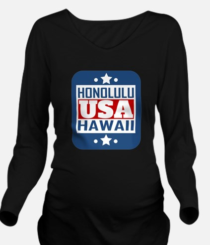 Honolulu Hawaii USA Long Sleeve Maternity T-Shirt
