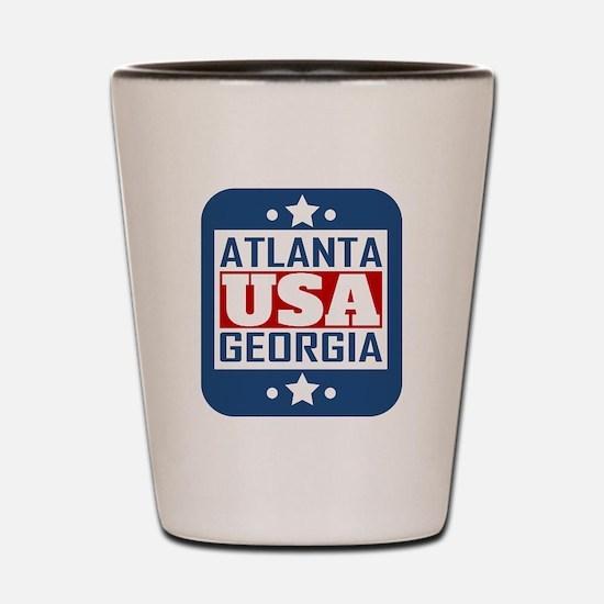 Atlanta Georgia USA Shot Glass