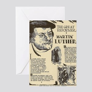 Martin Luther Mini Biography Greeting Cards