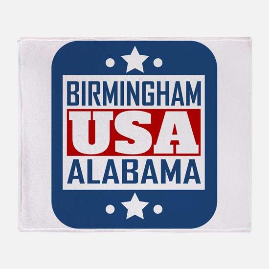 Birmingham Alabama USA Throw Blanket