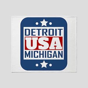 Detroit Michigan USA Throw Blanket