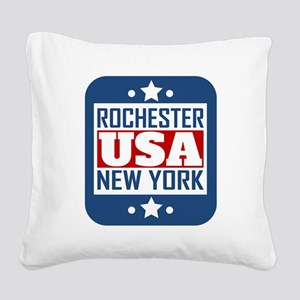 Rochester New York USA Square Canvas Pillow