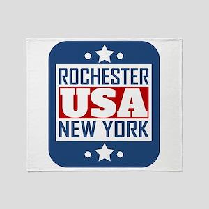 Rochester New York USA Throw Blanket