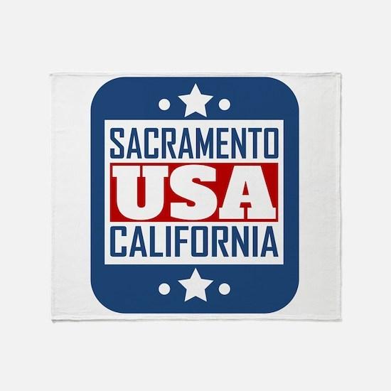 Sacramento California USA Throw Blanket