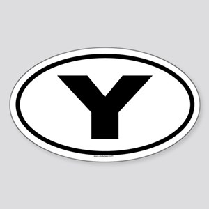 Y Oval Sticker