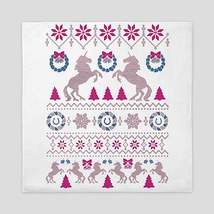 Unicorn christmas Queen Duvet