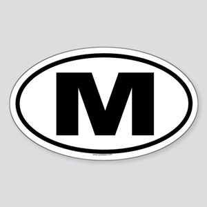 M Oval Sticker