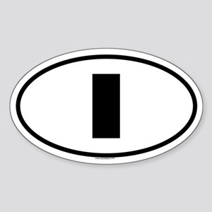 I Oval Sticker