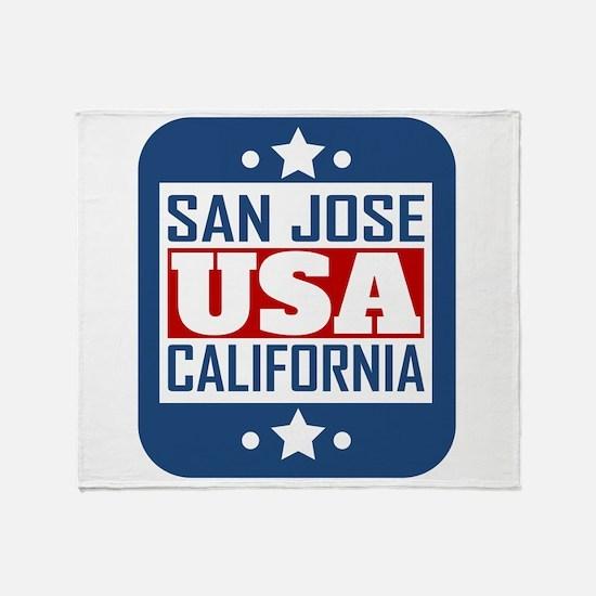 San Jose California USA Throw Blanket