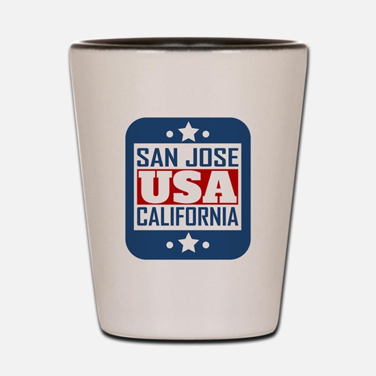 San Jose California USA Shot Glass
