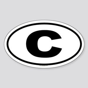 C Oval Sticker