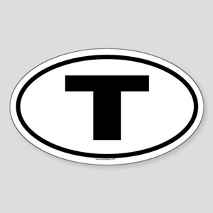 T Oval Sticker