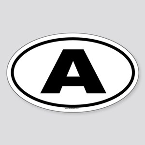 A Oval Sticker