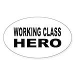 Working Class Hero Oval Sticker