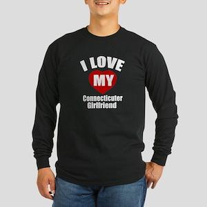 I Love My Connecticut Gir Long Sleeve Dark T-Shirt