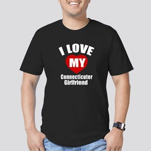 I Love My Connecticut Men's Fitted T-Shirt (dark)