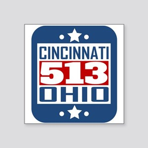 513 Cincinnati OH Area Code Sticker