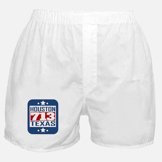 713 Houston TX Area Code Boxer Shorts