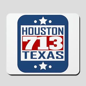 713 Houston TX Area Code Mousepad