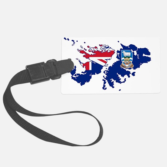 Funny British and american flag Luggage Tag