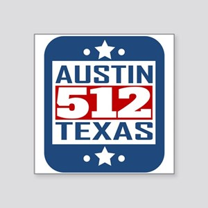 512 Austin TX Area Code Sticker