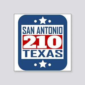 210 San Antonio TX Area Code Sticker