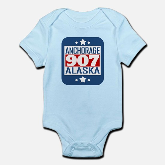 907 Anchorage AK Area Code Body Suit