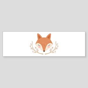 Fox Face Bumper Sticker